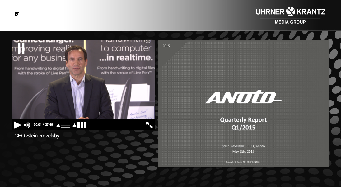 Anoto Webcast Q1