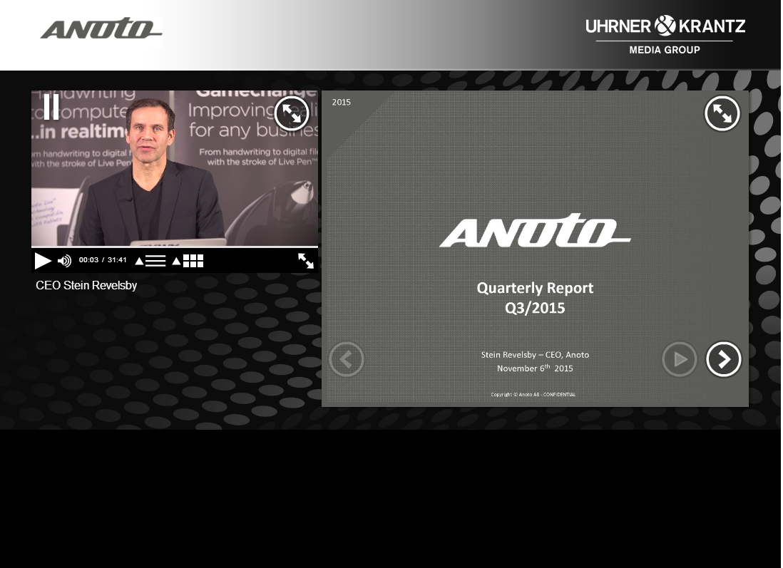 Anoto Webcast Q3