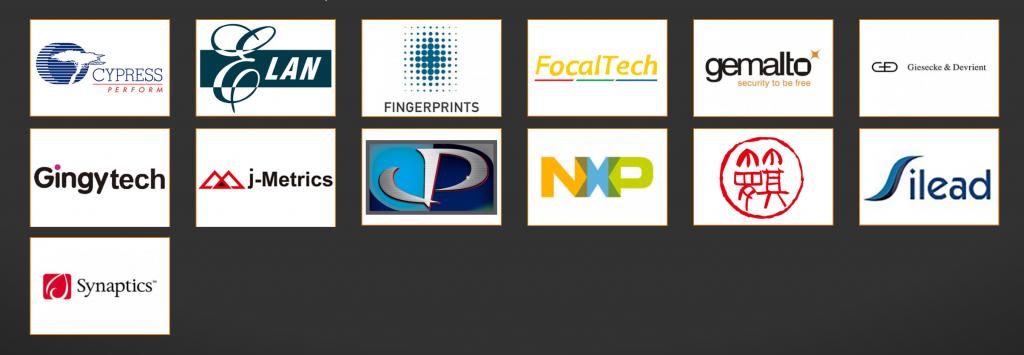 Några av märkena som använder Precise Biometrics