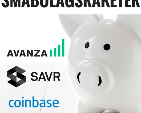 Insättningar Avanza,Savr,Coinbase